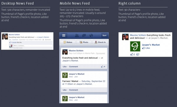 Facebook Check-In Sponsored Stories