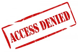 shutterstock_65483440 access denied - copyright by shutterstock