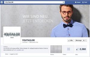 YOUTAILOR Facebook Seite - komplett alle Inhalte gelöscht