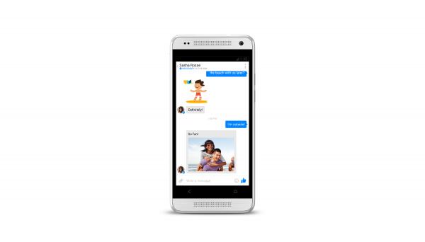 Eine Konversation auf dem Android Facebook Messenger (Quelle: Facebook)