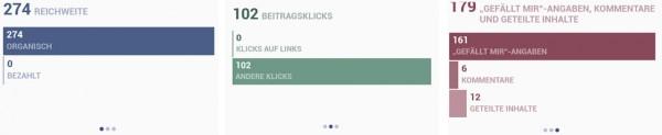 Beispiel der Statistikdaten aus dem Mobile Seitenmanager
