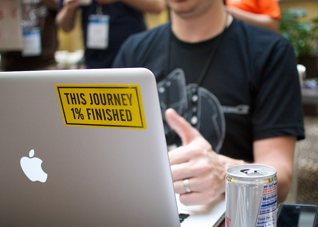 """This Journey 1% finished"" Copyright by akrobat (Flickr.com)"
