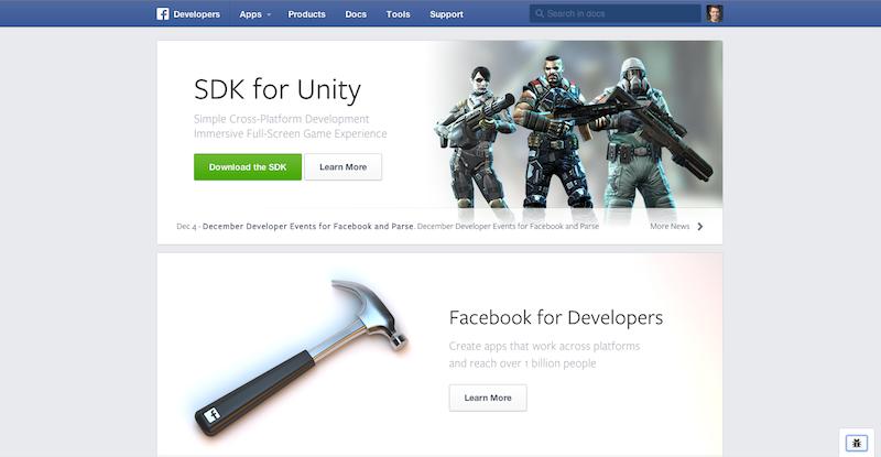 Redesign Facebook Developer Page (Quelle: Facebook)