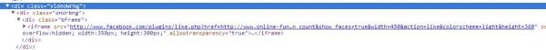 Quellcode Website mit Like-Button
