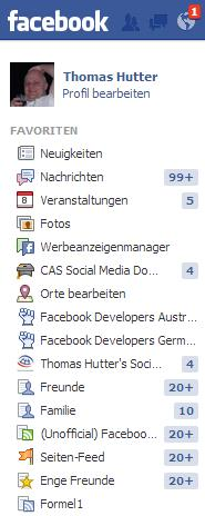 Interessenliste in den Favoriten auf dem Desktop