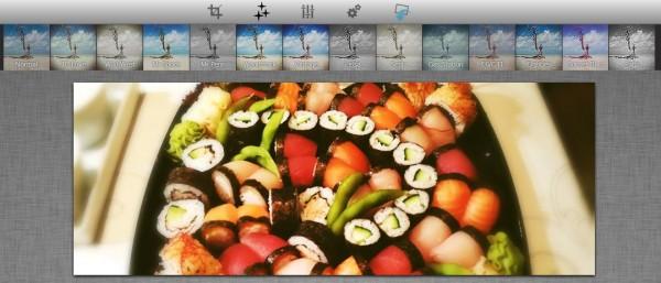 Filtereffekte im Social Media Image Maker