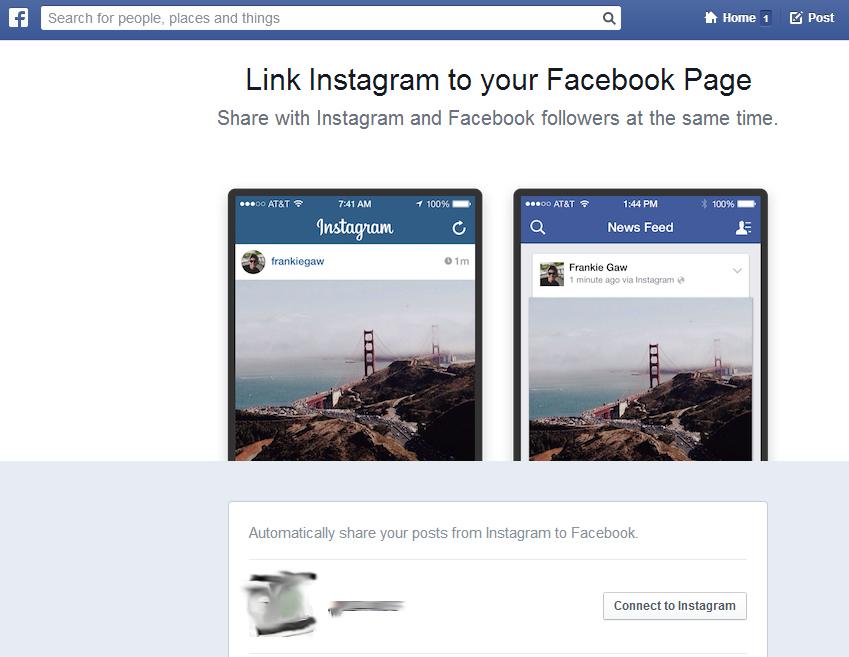 Instagram Connect für Facebook