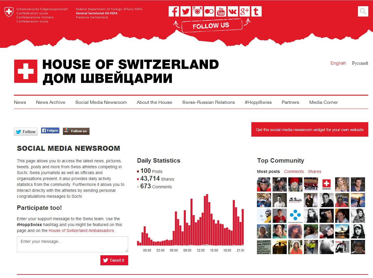 Newsroom House of Switzerland