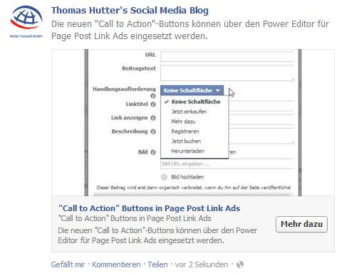 """Beispielbeitrag mit integriertem """"Call to Action""""-Button"""