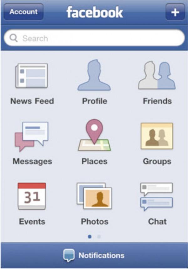 Mobile-Ansicht von Facebook früher (Quelle: Facebook)