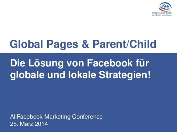Global Pages & Parent Child