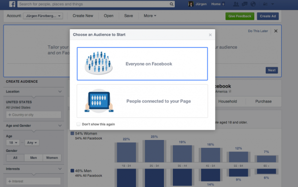 Audience Insights (Quelle: Facebook)
