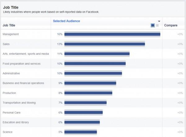 Jobtitel der Schweizer Facebook Nutzer (Quelle: Facebook Audience Insights)