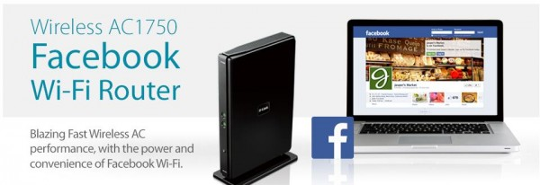 D-Link mit Facebook Wifi