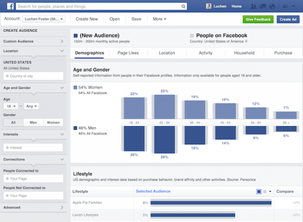 Facebook Audience Insights (Quelle: Facebook)