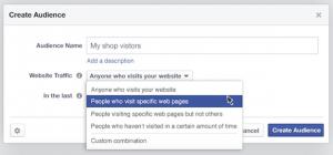 Neue vereinfachte Erstellungsmöglichkeiten für Custom Audiences (Quelle: Facebook)