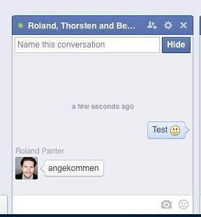 Gruppen Chat für Facebook Seiten