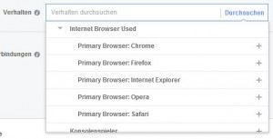 Targeting nach Browser