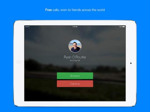 Screenshot Facebook Messenger for iPad
