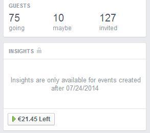 Keine Insights für Veranstaltungen vor dem 24.07.2014