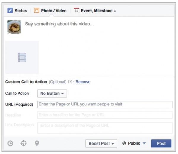 Call to Action zu Video hinzufügen (Quelle: Facebook)