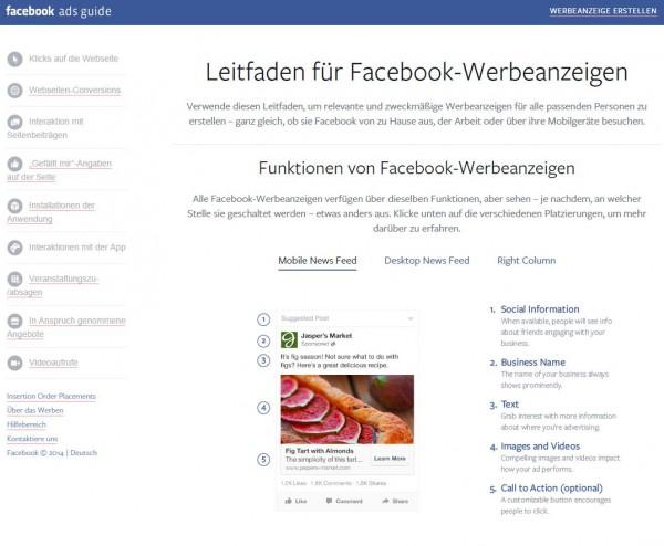 Online Leitfaden für Facebook Werbeanzeigen