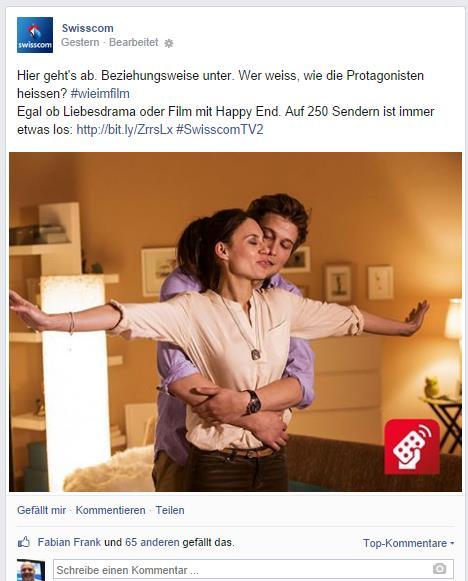 Ein ähnliches Beispiel bei Swisscom