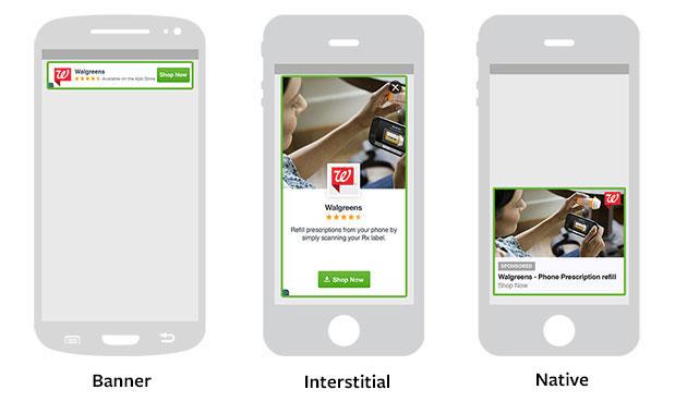 Die Darstellungsmöglichkeiten von Werbeanzeigen im Audience Network