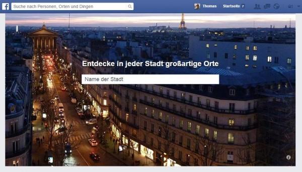 Facebook Places mit neuer Startseite