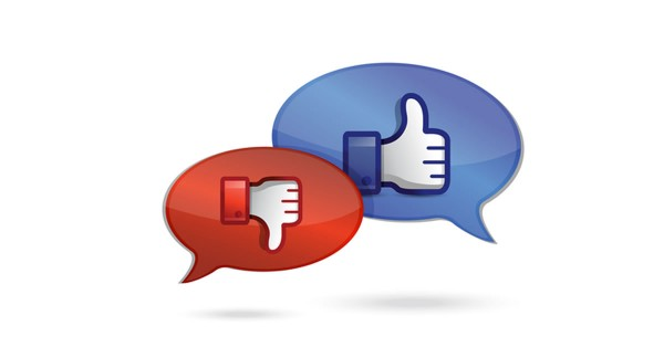 communication or chatting thump up & thumb down cycle illustration design over white background by shutterstock.com