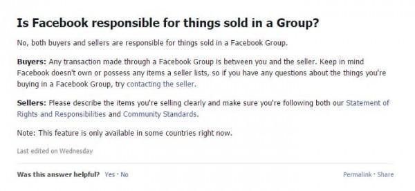 "Hilfeseite zu ""sell something"""
