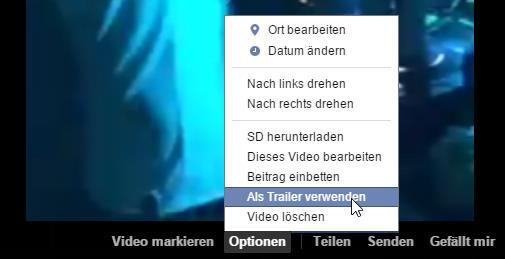 """Video Optionen """"als Trailer verwenden"""""""