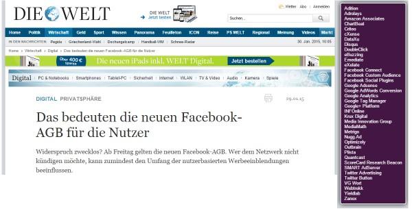 "Screenshot ""Die Welt"""