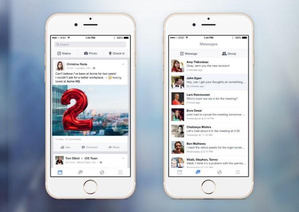 Facebook at Work iOS (Quelle: Facebook)