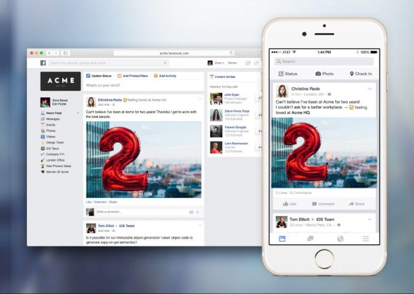 Facebook at Work - News Feed (Quelle: Facebook)