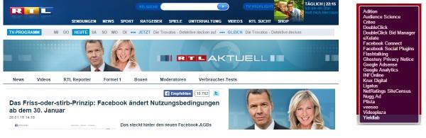 Screenshot rtl.de