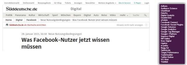 Screenshot suedeutsche.de