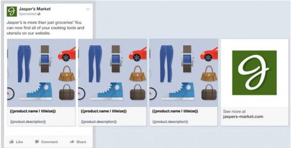 Dynamic Ad Template- Quelle: Facebook Developer Blog