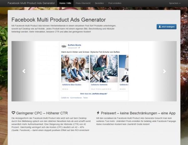 Facebook Multi Product Ads Generator