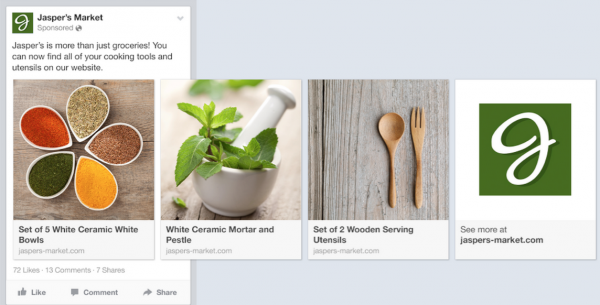 Dynamic Product Ads - Quelle: Facebook Developer Blog