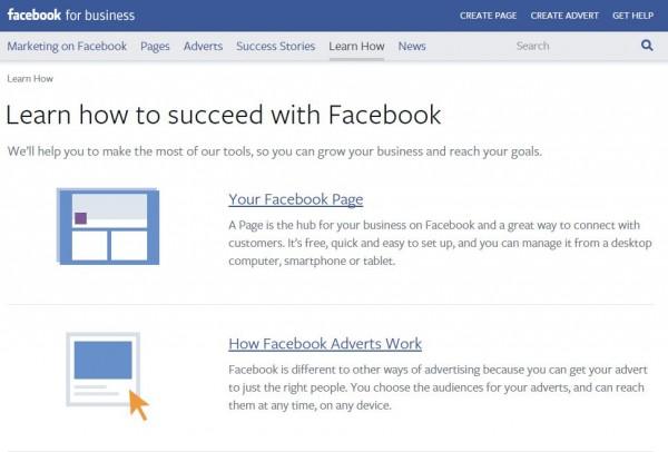 Leitfäden auf Facebook for Business