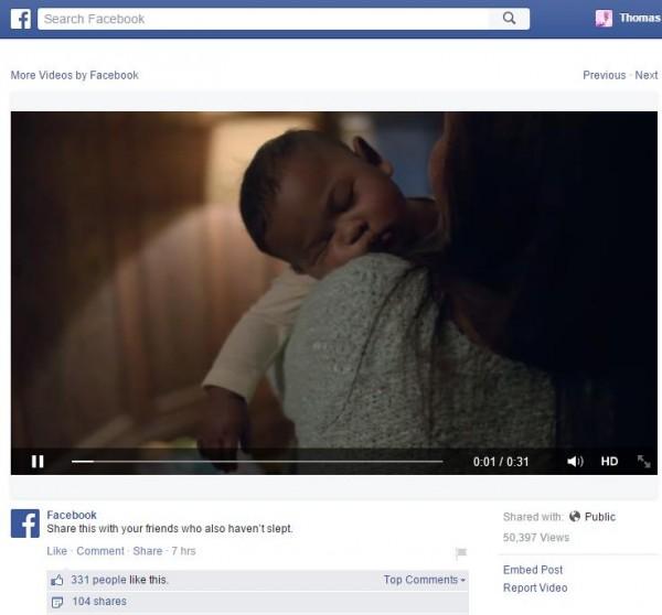 Einzelansicht eines Videos auf Facebook