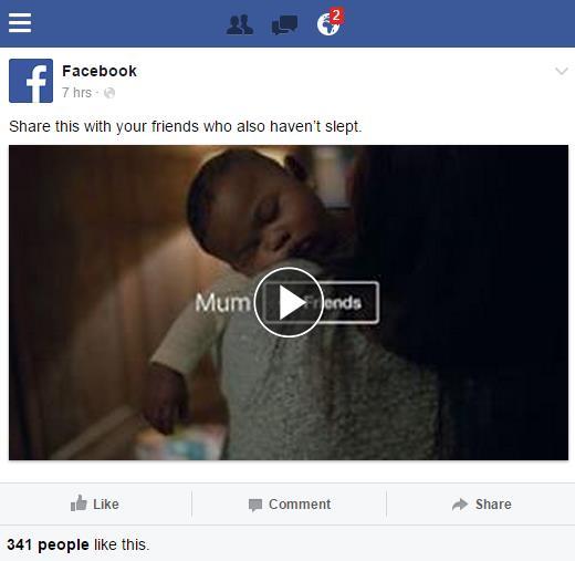 Video in der Mobile Ansicht von Facebook