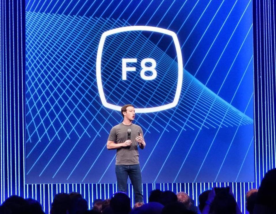 Mark Zuckerberg bei seiner f8 Keynote (Foto von Curt Simon Harlinghausen)