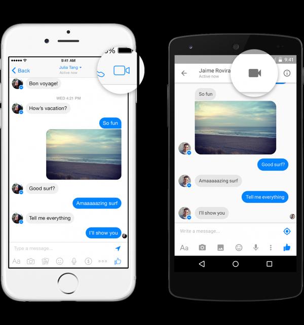 Videotelefonie im Messenger (Quelle: Facebook)