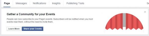 Meldung auf Facebook Seiten