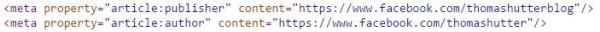 """MetaTag """"article:author"""""""