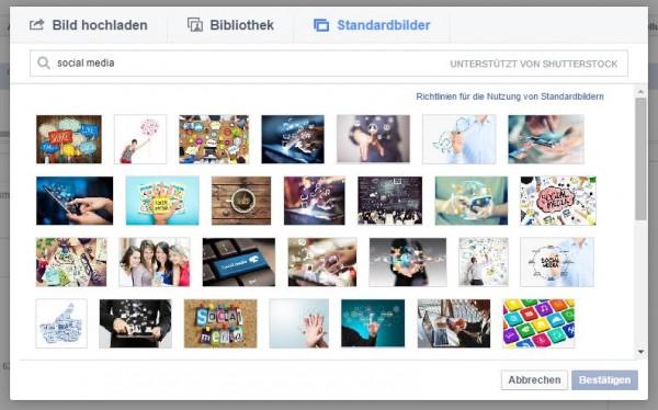 Kostenlose Bilderbibliothek von Shutterstock im Power Editor