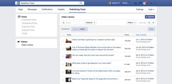 Neue Videobibliothek (Quelle: Facebook)