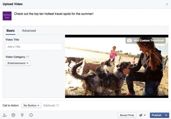Verbesserter Upload Prozess für Videos (Quelle: Facebook)